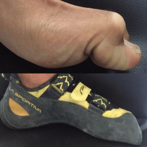 Climbing shoe posture