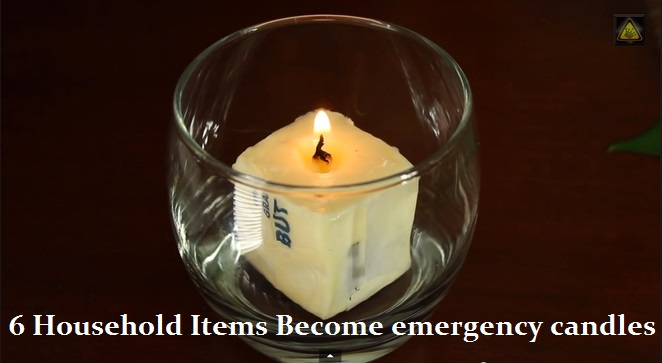6 Household Items Become Emergency Candles - The Prepared Page