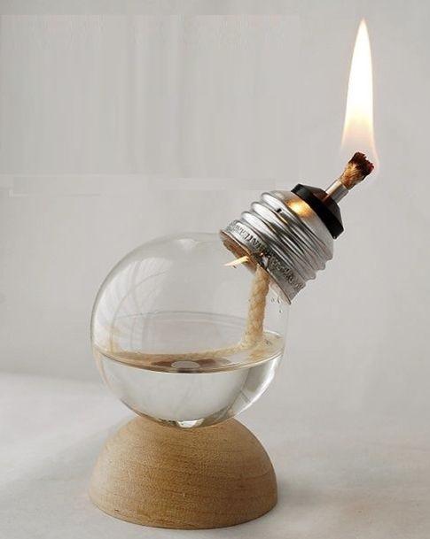 Diy Bulb Oil Lamp The Prepared Page