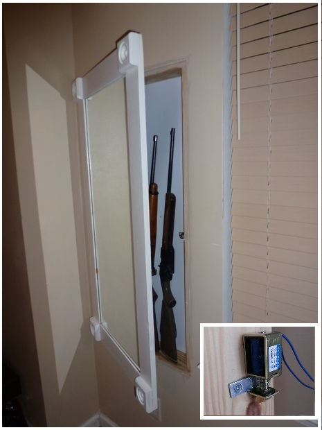 DIY Undercover in Wall Gun Cabinet With Hidden Lock
