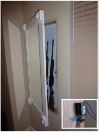 DIY Undercover in Wall Gun Cabinet With Hidden Lock - The ...