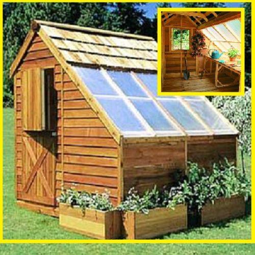 DIY Cedar 8X8 Greenhouse Kit - The Prepared Page