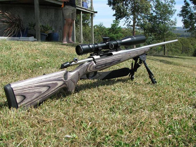 Large Caliber .30-06 will take down any game in North America. No matter how many legs it has on it. Perfect for hunting and long-range marksmanship.