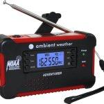 Ambient Weather WR-111B Emergency Solar Hand Crank AM/FM/NOAA Digital Radio