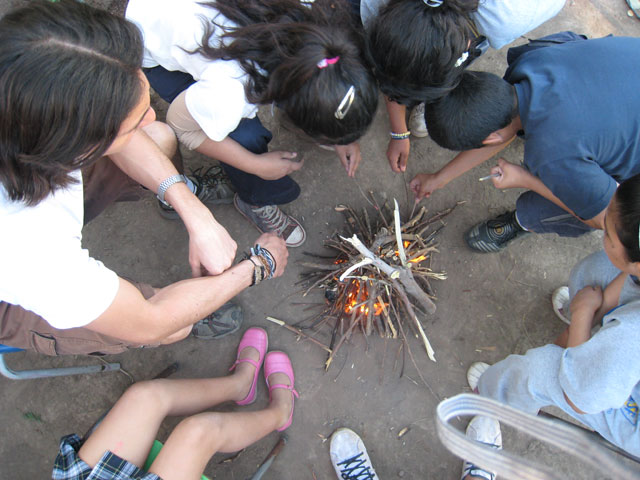 Just having the means to build a fire isn't enough. It is more important to teach your children how to make a fire.