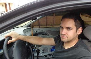 The author in his car.