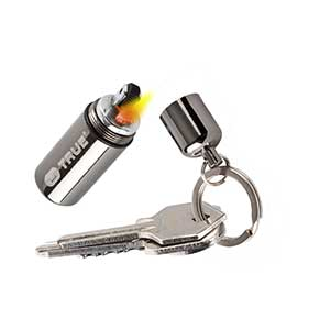 Carry a lighter on your keychain. This small peaunt lighter could save your day.