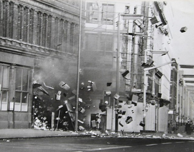 A bomb explodes in a stationary shop in Royal Avenue,Belfast