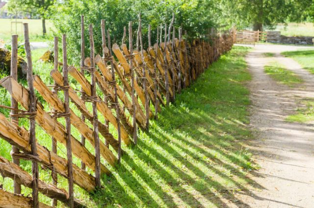 Fences were made with what you had on hand, designed for simple function.