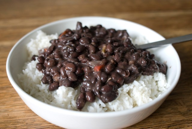 Rice and beans are a prepper staple and a great option for emergency food storage, but make sure you have variety or family might balk.