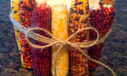 Indian Corn Candle