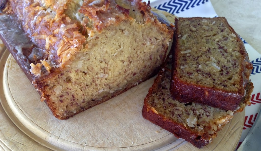 Coconut Banana Bread with Lime Glaze by Cooking Light