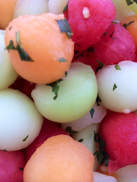 Melon Ball Salad with Mint