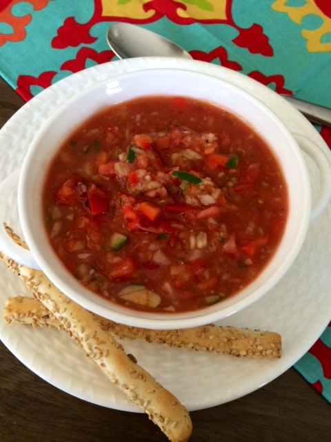 Summer Gazpacho Soup, by Ina Garten
