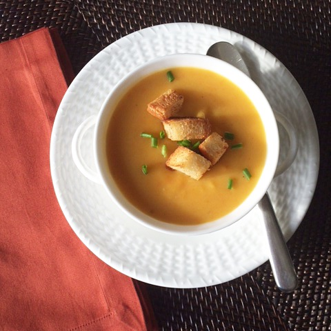 Butternut Squash Soup with Apples