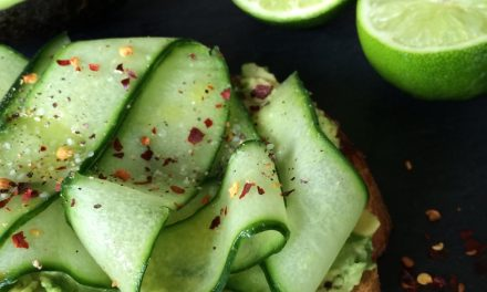 Avocado Toast with Cucumber Ribbons