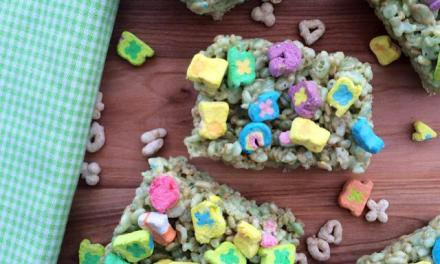Lucky Charm Marshmallow Bars