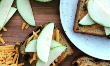 Cinnamon-Raisin Toast with Cheddar and Apple