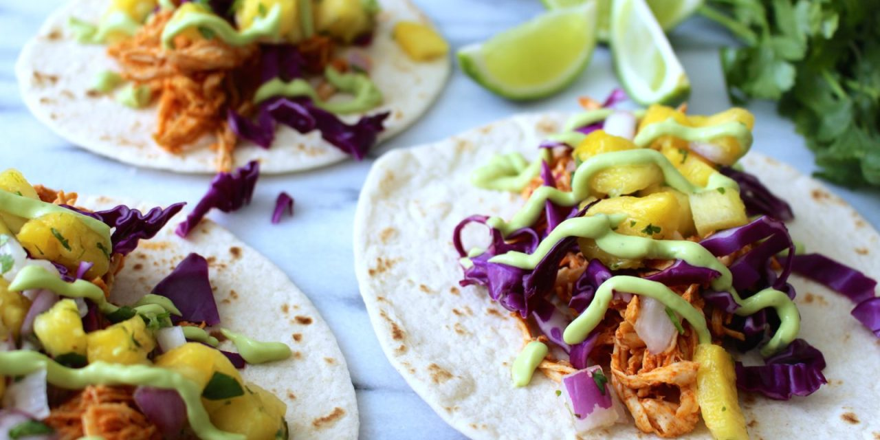 Zesty Chicken Tacos with Pineapple Salsa