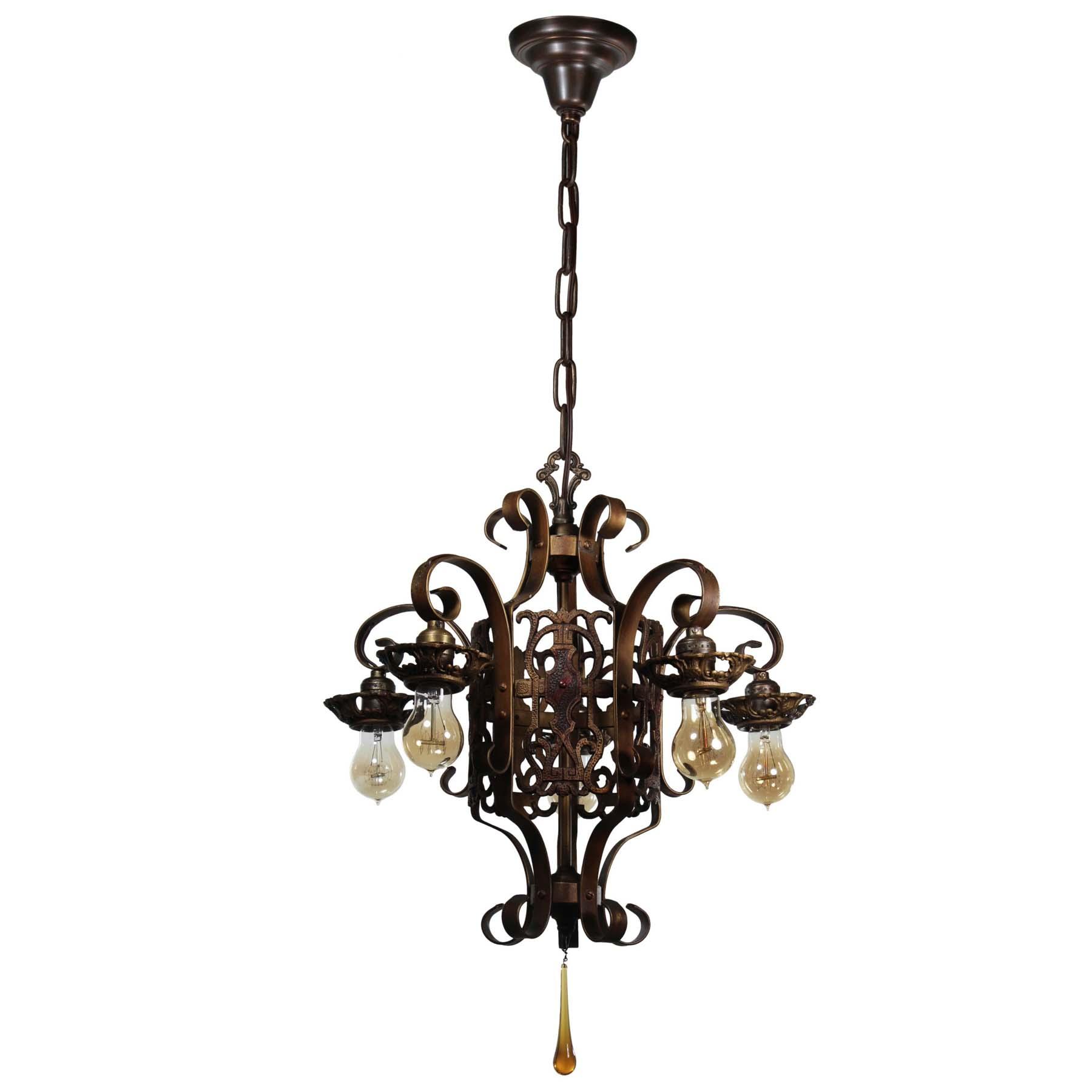 antique spanish revival five light