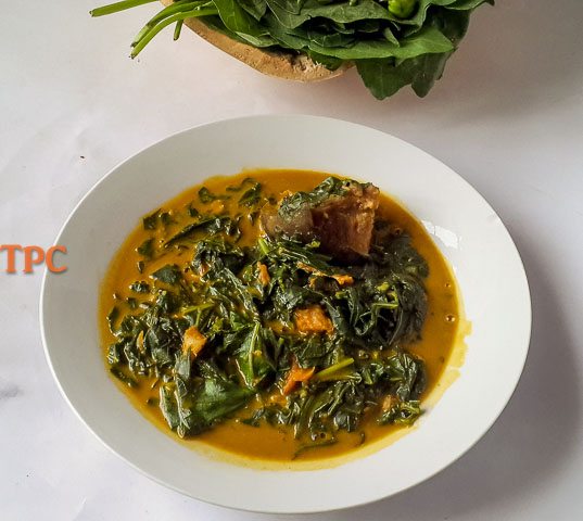 healthy anala soup, ofe ukpom