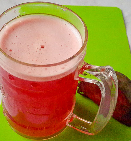 Sweet, earthy and Healthy beetroot juice mocktail