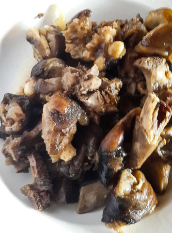 cooked goat meat for nsala soup