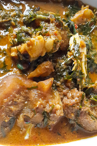 ofe owerri bubbling in the pot
