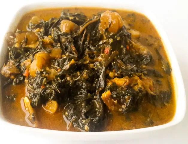 Bitter leaf soup (Onugbu soup)