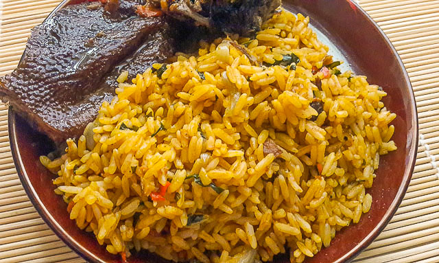 Nigerian Palm oil jollof rice