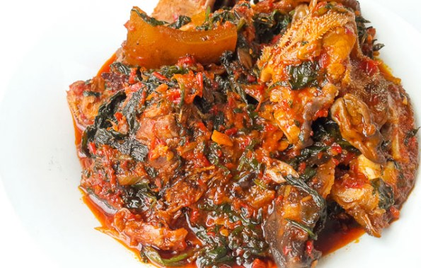 fresh and rich Efo riro (vegetable soup)