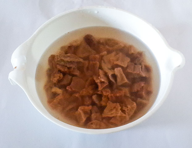 achicha soaking in water for achicha, dry cocoyam