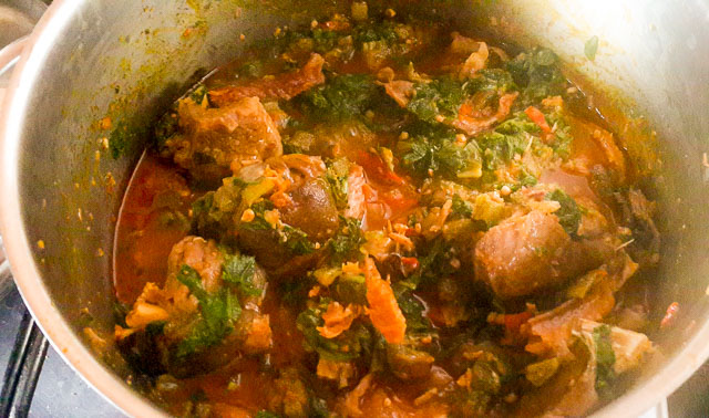 ofe ugbogoro being cooked
