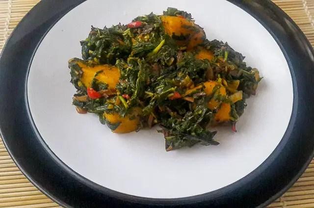 Simple and wholesome vegetable yam (Ji akwukwo).