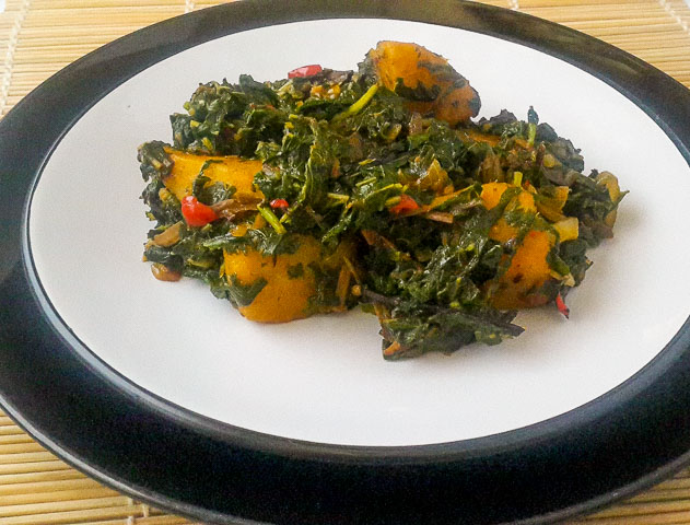 Simple and wholesome vegetable yam.