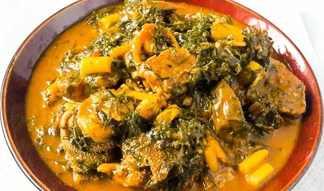 okazi soup, Ukazi soup