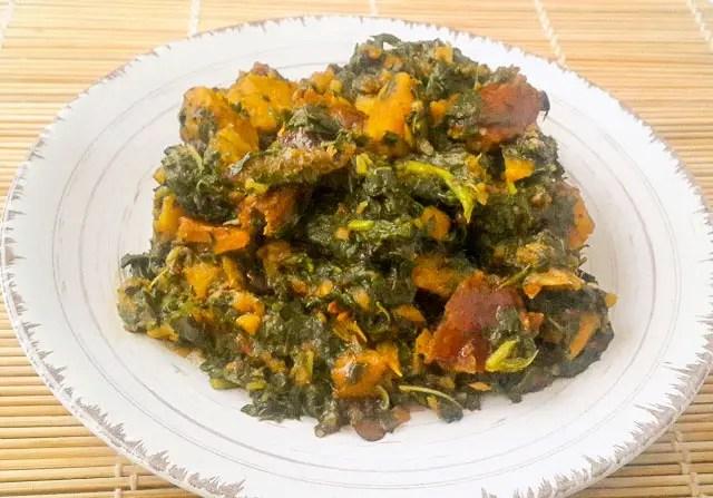 simple and healthy Vegetable Yam porridge