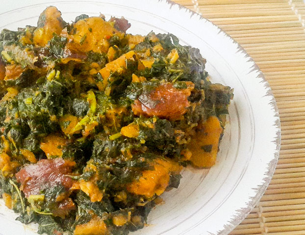 simple and healthy Vegetable Yam porridge