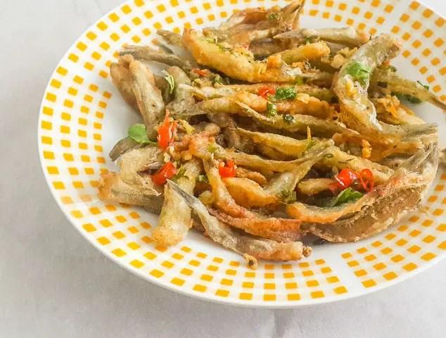 Nigerian Crispy fried whitebait fish (Yor-yor)