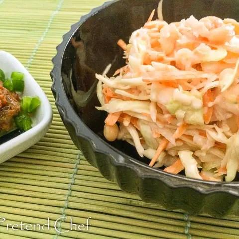 simple, tasty Nigerian coleslaw