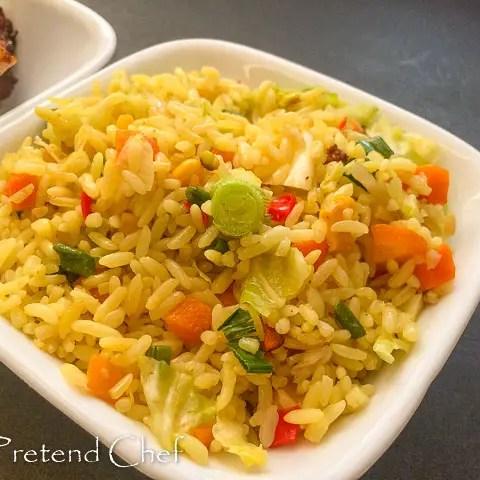 golden delicious Nigerian stir fried rice