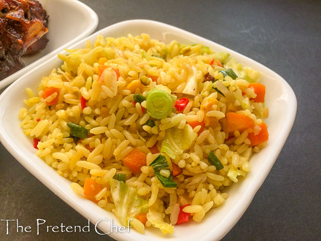 golden delicious Nigerian stir fried rice