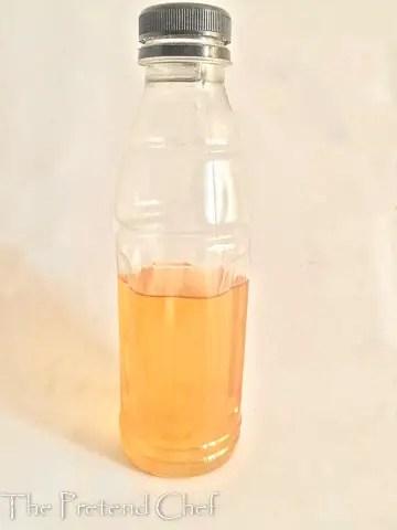 bottle of ginger tea in how to make ginger tea