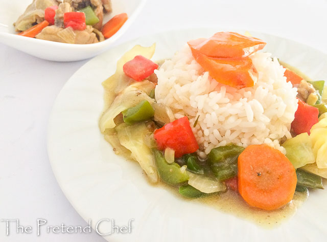Easy Nigerian vegetable sauce, simple and fresh, looking pretty in a white plate