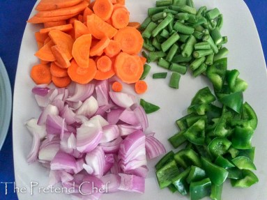 vegetables prepped forEasy Nigerian vegetable sauce
