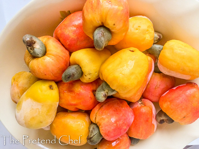 Organic cashew fruits used for cashew fruit juice