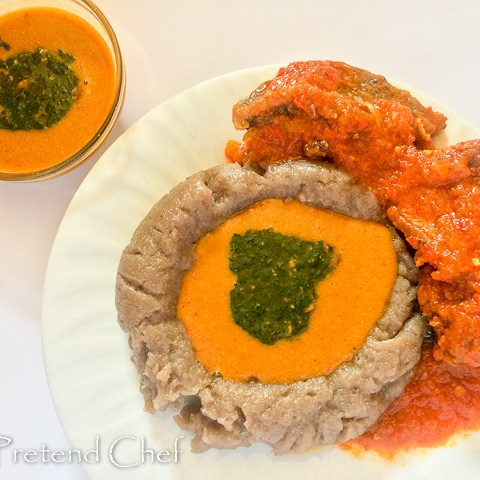 Omi Obe (Stew) and gbegiri
