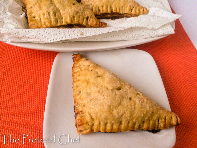 Indulgent Caramel apple filled apple hand pie