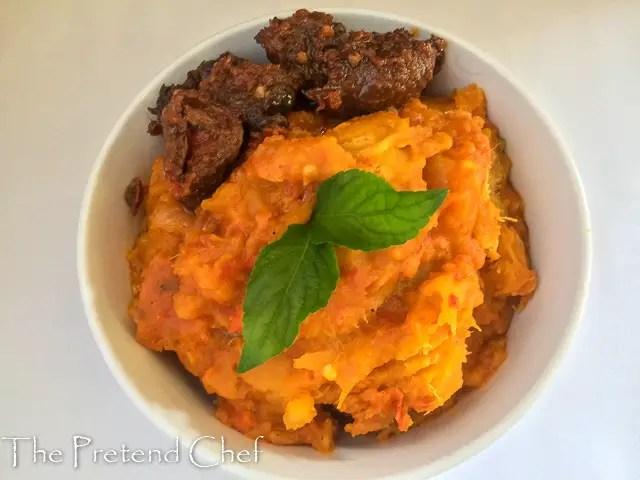 Asaro (mashed yam porridge)