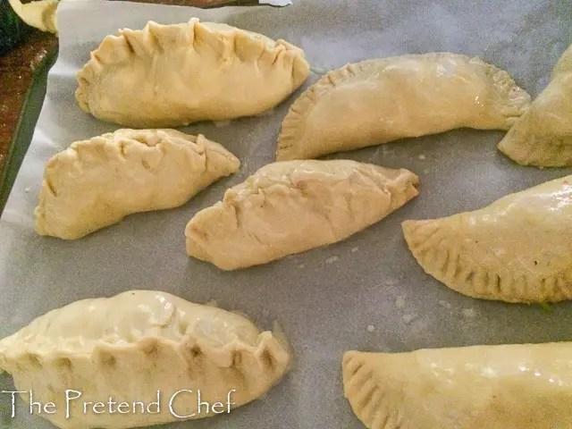 uncooked Nigerian Cornish Pasty